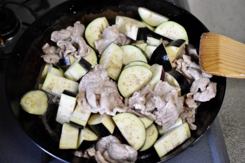 豚肉とナス